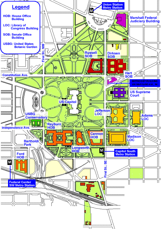 building and the us supreme court map